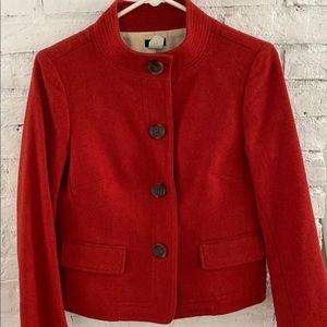 J. Crew red wood blazer coat size 4